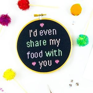 'I'd Even Share My Food With You' Cross Stitch Kit