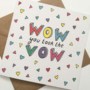 Fun Font Wedding Card