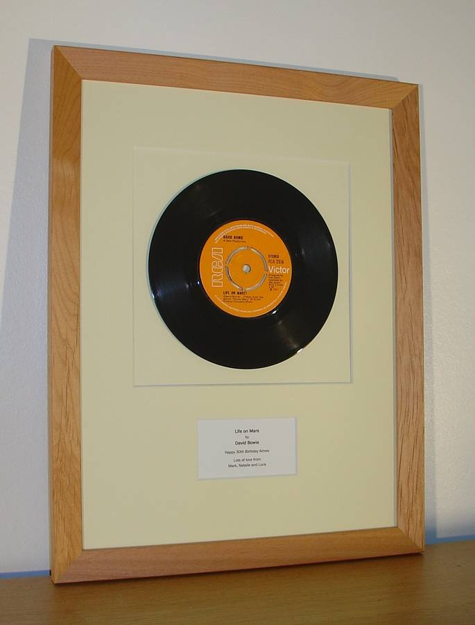 framed birthday number one: original vinyl record by the old record ...