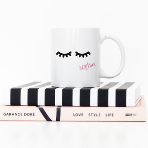 Personalised Eyelash Mug