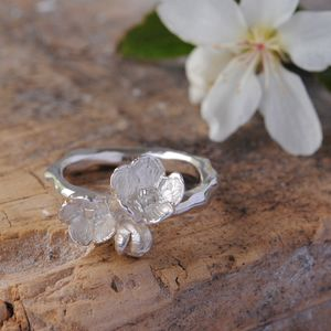 Sterling Silver Blossom Ring - rings