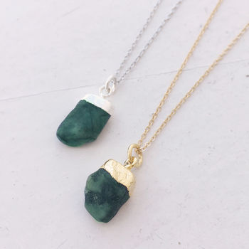 Personalised Emerald Necklace
