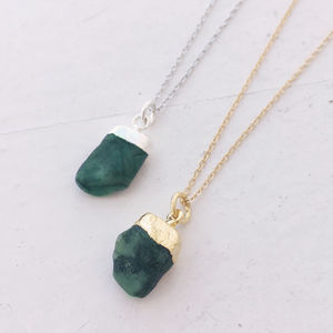 Personalised Emerald Necklace - new in jewellery