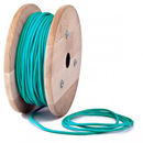 teal fabric cable