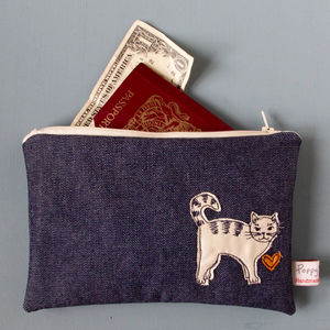 Cat Embroidered Purse - purses