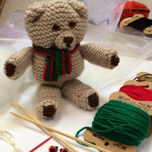 Teddy Bear Learn To Knit Kit - knitting kits
