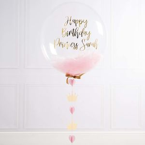 Personalised Birthday Princess Confetti Filled Balloon
