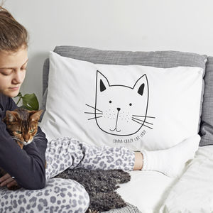 Personalised 'Cat' Pillow Case