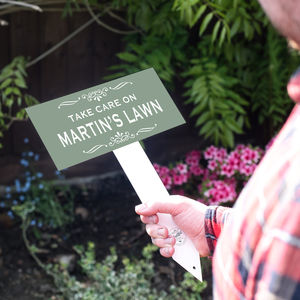 Personalised Enamel Garden Sign - decorative accessories