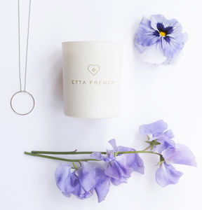 Violet And Sweetpea Candle With Secret Hidden Jewellery