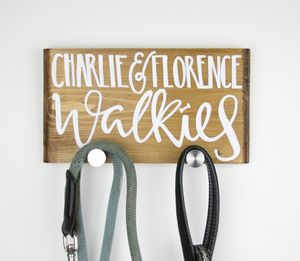 Personalised Double Dog Lead Walkies Plaque