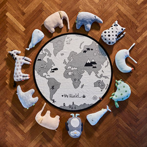 Maps Of The World Endangered Animals Playmat - gifts for babies
