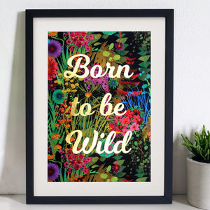 Born To Be Wild Tropical Liberty Fabric Wall Art - children's room