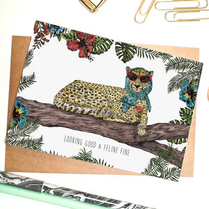 Feline Fine Greeting Card - all purpose cards