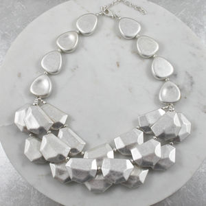Chunky Layered Rock Necklace