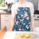 Navy Song Thrush And Bright Florals Baking Apron