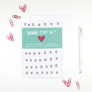 'Wanna Stay In?' Netflix Binge Romantic Card - seasonal cards