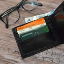 Personalised Black Wallet For Men