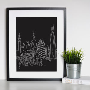 London Landmark Framed Print - lust list for him