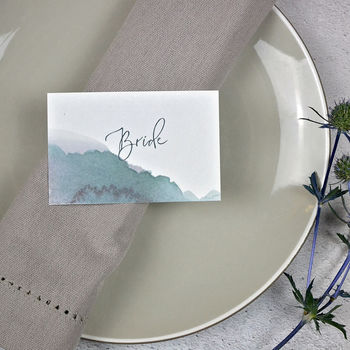 Personalised Watercolour Hues Place Setting Cards