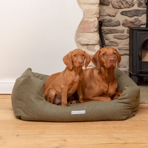Luxury Tweed Boxy Dog Beds