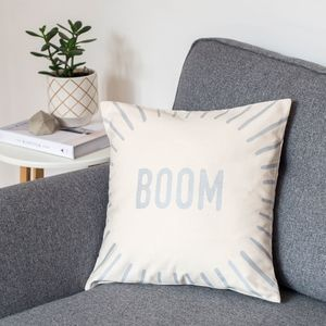 Boom Silver Cushion Cover - cushions