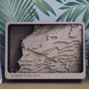 Your Location Multi Layer Topographic Wood Map