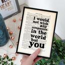 Wedding 'Companion' Shakespeare Quote Print