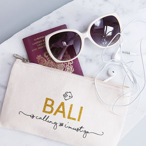 Personalised 'Destination Is Calling' Travel Pouch
