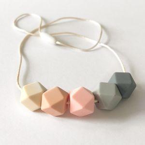Hexagon Teething Necklace - baby shower gifts
