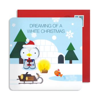 Christmas Magnet Scenic Cards
