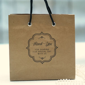 Wedding Favour Kraft Gift Bags With Handles