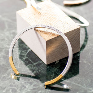 Personalised Dipped Bar Bangle - gifts for her