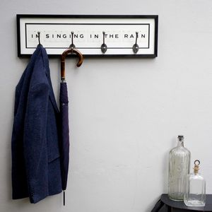 I'm Singing In The Rain Umbrella And Coat Rack - stands, rails & hanging space