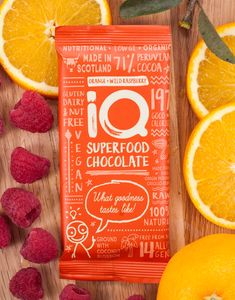 Orange With Wild Raspberry Raw Chocolate Bar - alcohol free gifts