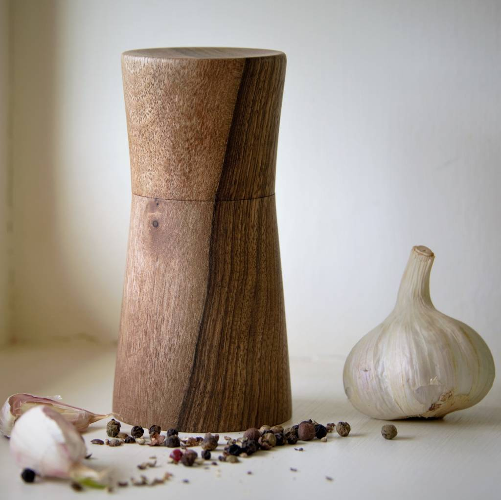 english black walnut salt or pepper mill by natural wood company. Black Bedroom Furniture Sets. Home Design Ideas
