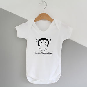 Cheeky Monkey, Personalised Baby Grow