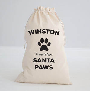 Personalised Paws Sack - view all decorations