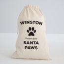 Personalised Paws Sack