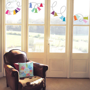 Christmas Bells Window Stickers - living room