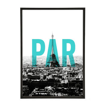 Skyline Pop Art Print Paris