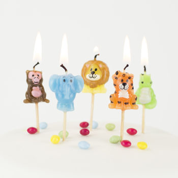 Jungle Animal Birthday Cake Candles