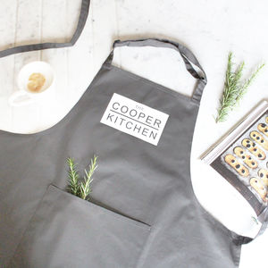 'The Surname Kitchen' Personalised Family Apron - gifts for him