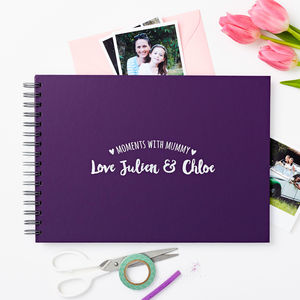 Personalised 'Moments With Mum' Photo Album - gifts for mothers