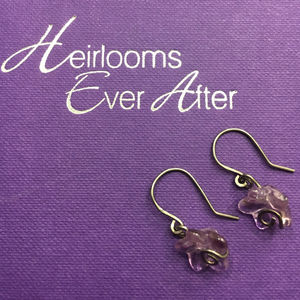 Hypoallergenic Amethyst Earrings - earrings