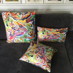 'Multi Mix Abstract Cushion