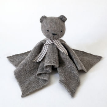 Personalised Cashmere Bear Baby Comforter