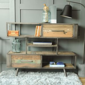 Mariner Three Shelf Two Drawer Storage Unit - furniture