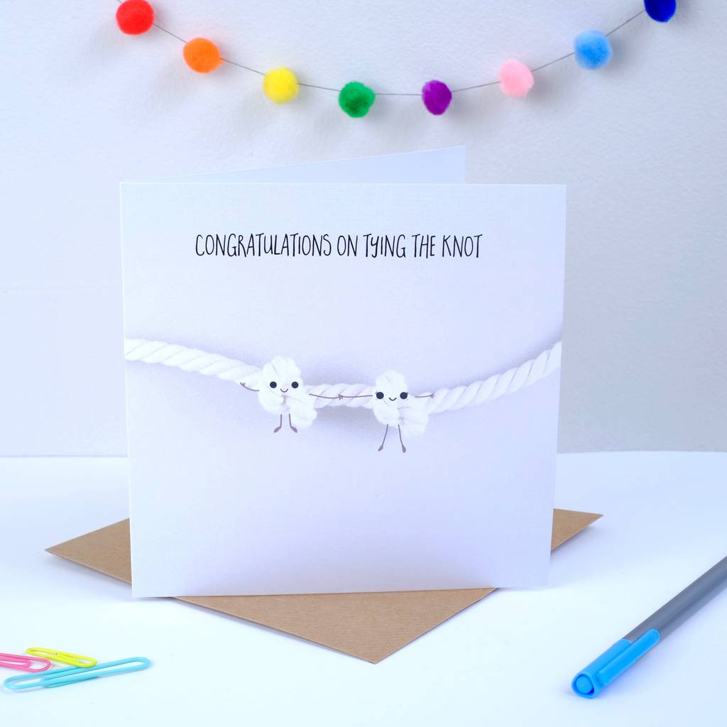 Congratulations On Tying The Knot Greeting Card