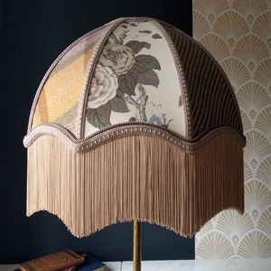 Patchwork Scallop Dome Lampshade - dining room
